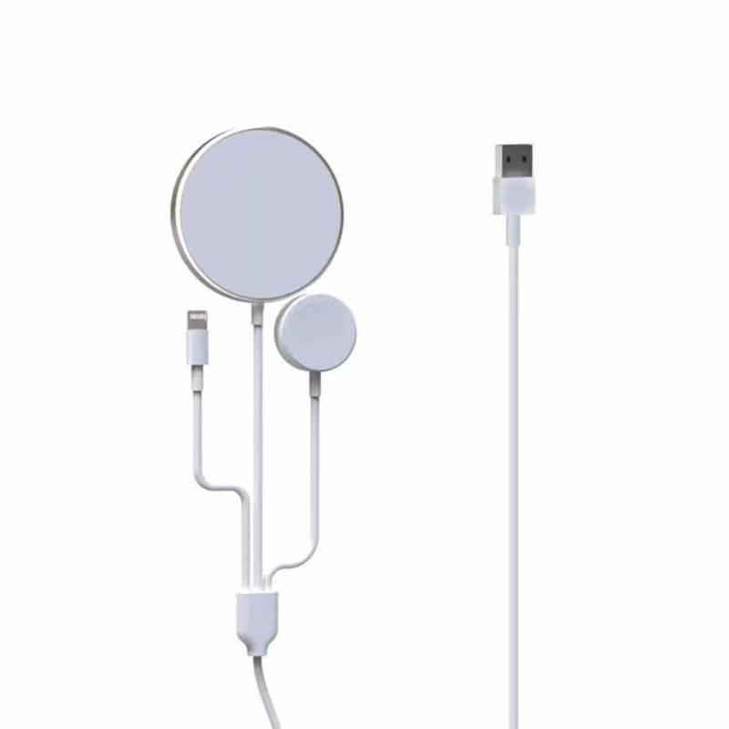 1本4役 iPhone12・Apple watch・Airpodsワイヤレス充電可能