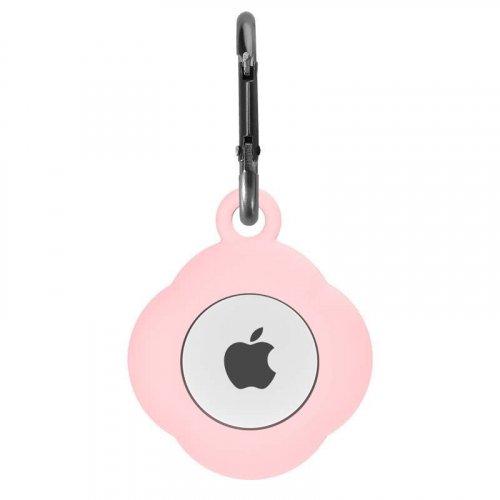 Apple AirTag ケース シリコン素材 アルミ合金カラビナ付き アップル エアタグ用カバー