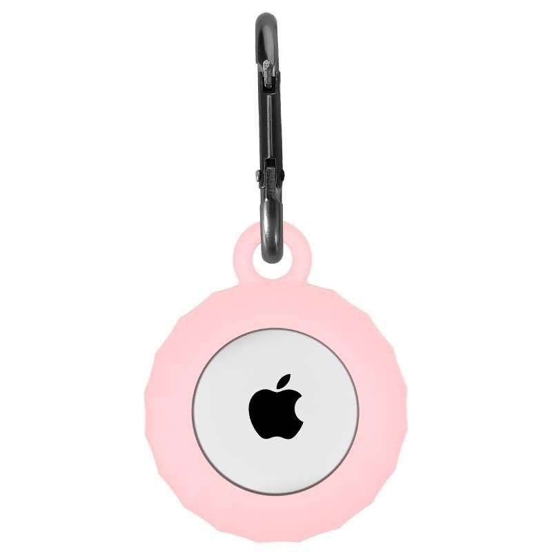 Apple AirTag ケース Silicone material アルミ合金カラビナ付き アップル エアタグ用カバー