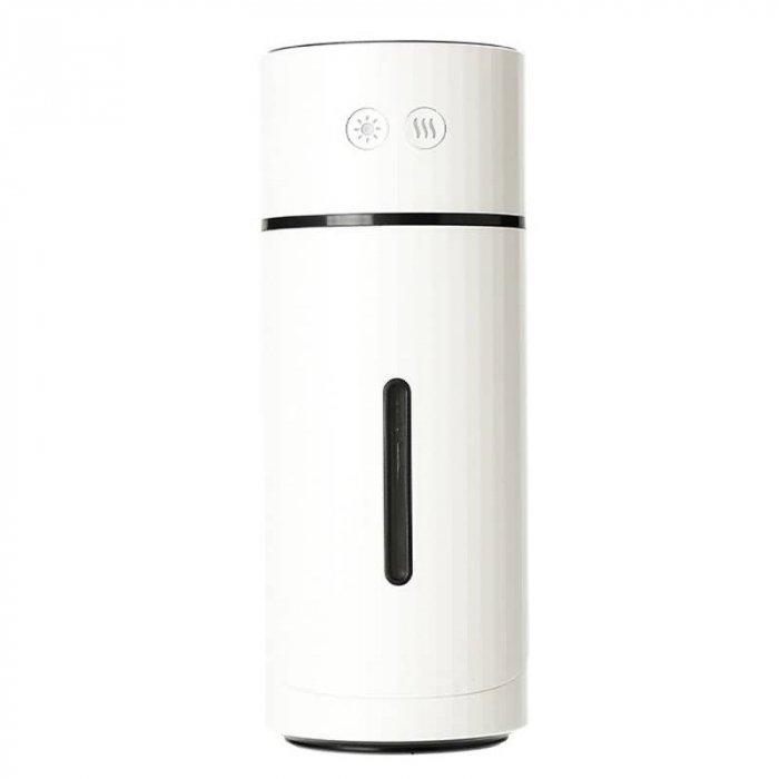 超音波式 USB充電式 上下90°調整 卓上加湿器 1000mAh 内蔵バッテリー