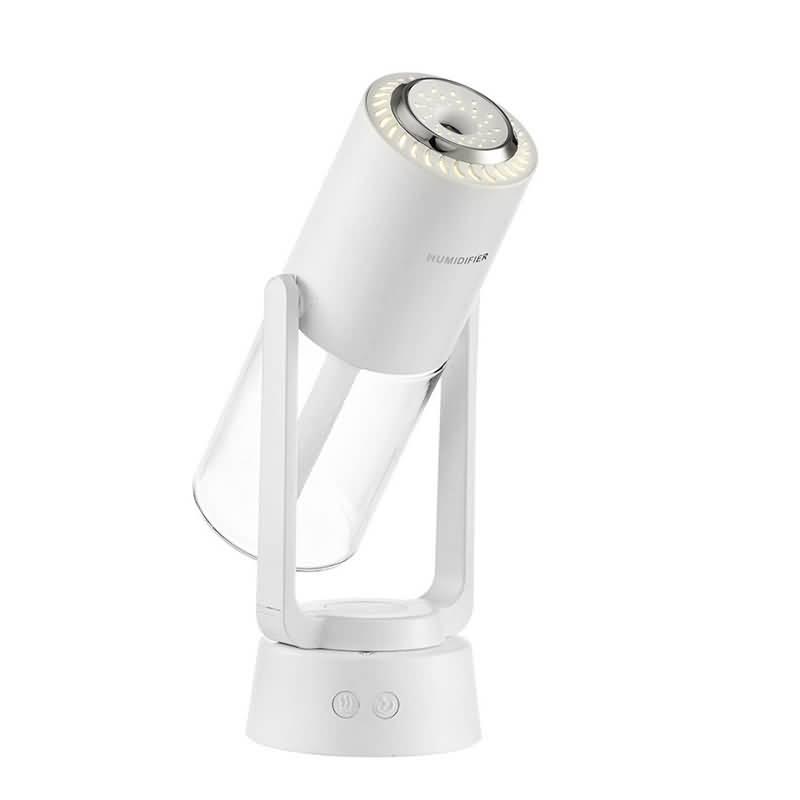 USB充電式 上下180°回転 左右120°回転調節可能 卓上加湿器 230ml 除菌