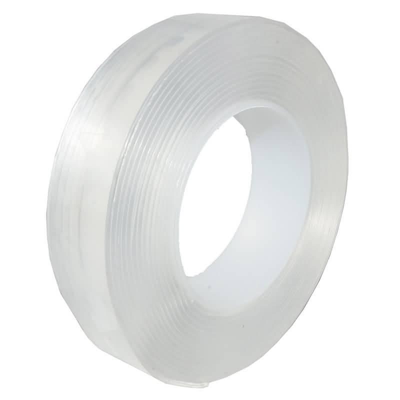 魔法の両面テープ 魔法テープ 再利用可能 両面テープ超強力 はがせる 多機能テープ (厚度2mm 幅20/30/50mm 長さ1/2/3/5M