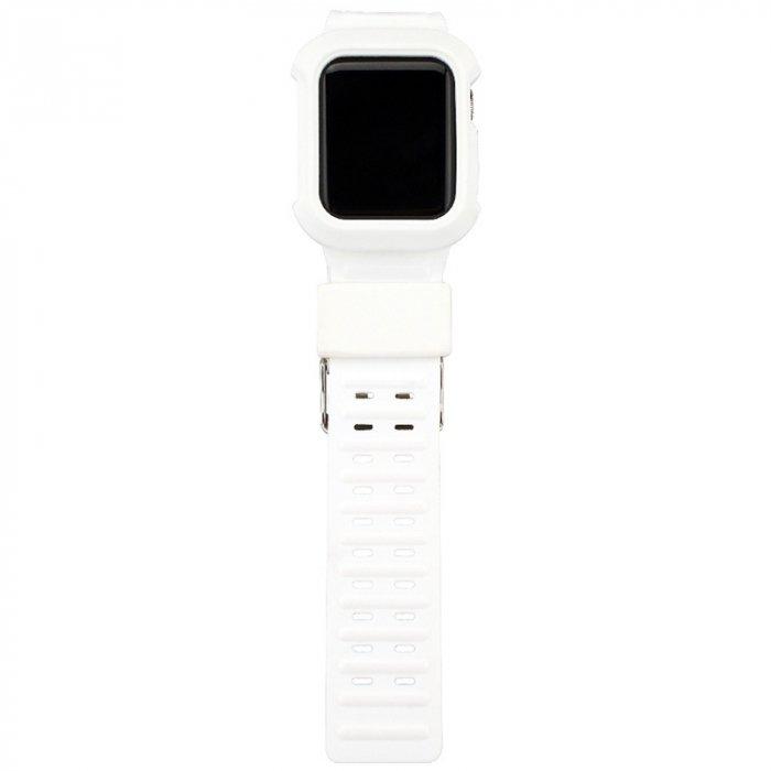 Apple watch 42mm/44mm TPU製 一体型 バンド アップルウォッチ バンド TPU アップルウォッチ カバー 取付簡単 38mm/42mm 交換用バンド TPU ア ップルウォッチ バンド